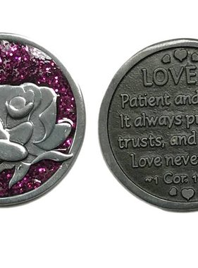 Love is Patient...Sparkle Pocken Token