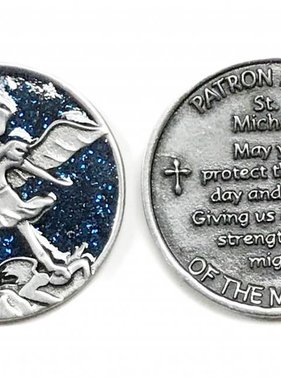 St. Michael Sparkle Pocket Token