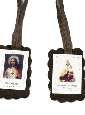 Divine Mercy/Our Lady of Mt. Carmel Brown Scapular