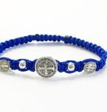 St. Benedict Blue Trinity Bracelet