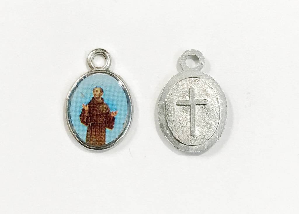 St francis of assisi mini saints medal theactsstore st francis of assisi mini saints medal aloadofball Choice Image