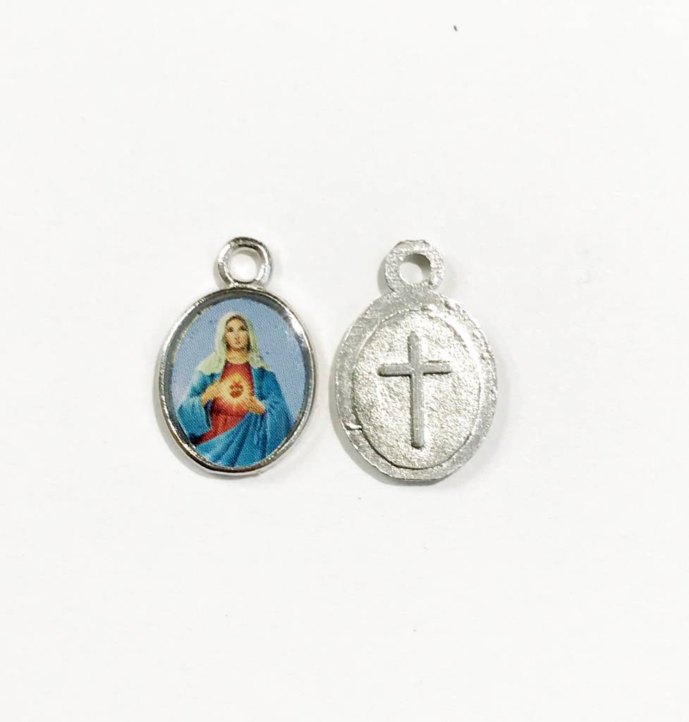 Sacred Heart of Mary Mini Saints Medal