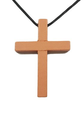 Wood Cross Pendant w/Prayer Card