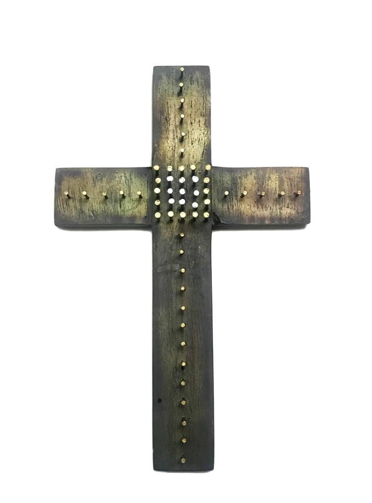 "13.25"" Nail Art Wall Cross"