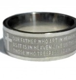 Our Father Stainless Steel Ring