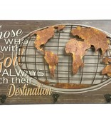 "23.5"" Globe Wall Plaque"