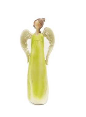 "7.25"" Pastel Green Angel"
