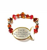 I Can Do All Things Scripture Bracelet-Red