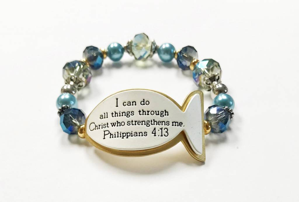 Fisher of Men Scripture Bracelet-Blue