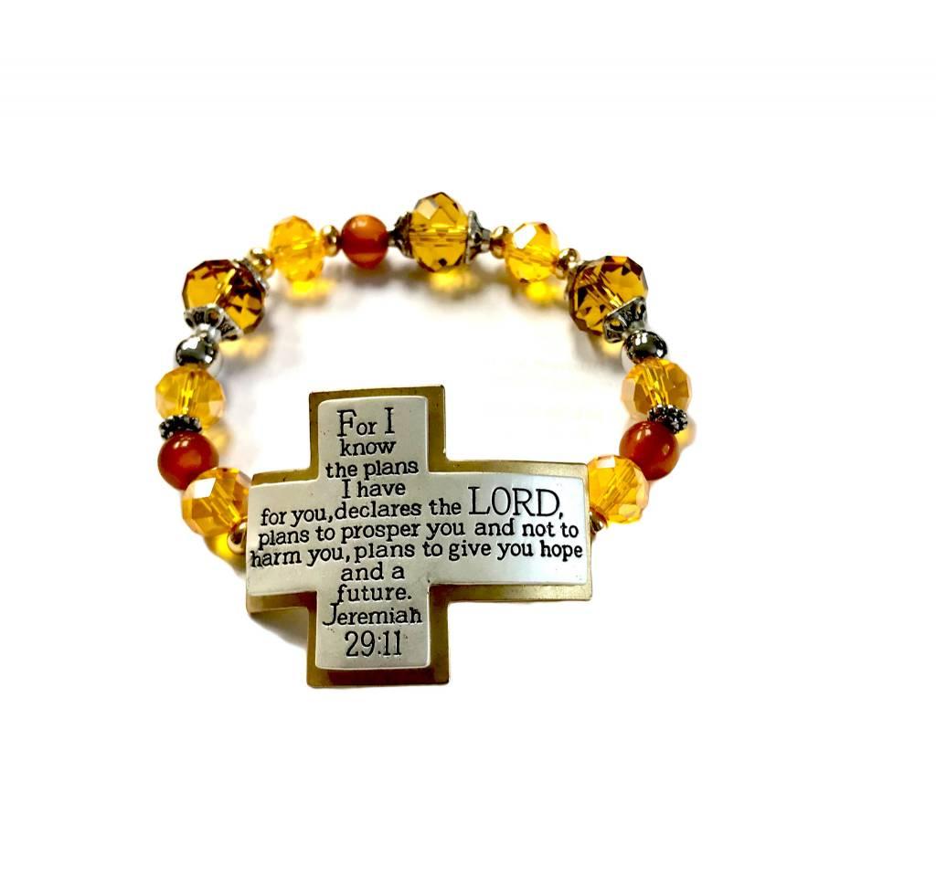 His Plan Scripture Bracelet-Amber