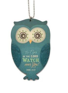 Owl Car Charm Proverbs 22:12