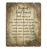 "15"" St Francis Prayer Plaque"