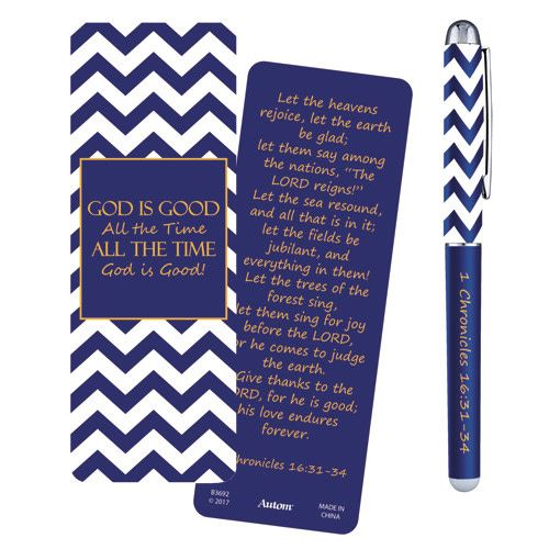 God Is Good Pen w/Bookmark