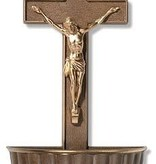 Bronze Crucifix Holy Water Font