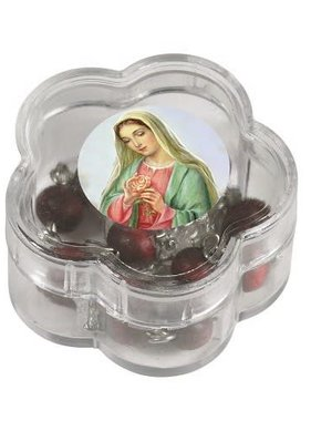 One Decade Rose Scented Rosary w/Case
