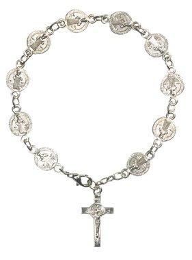 St Benedict Medal Rosary Bracelet w/Crucifix