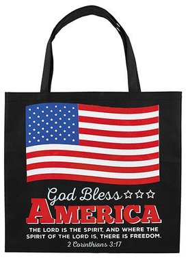 God Bless America Nylon Tote
