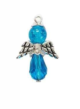 Blue Glass Bead Angel Charm