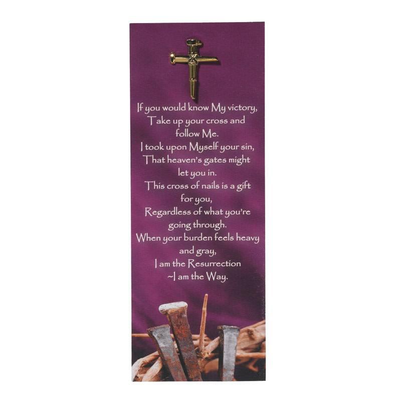 Nail Cross Lapel Pin w/Bookmark