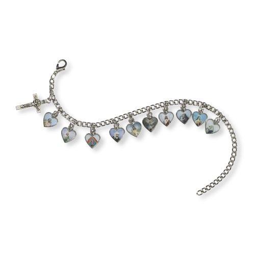 Devotional Heart Saints Bracelet