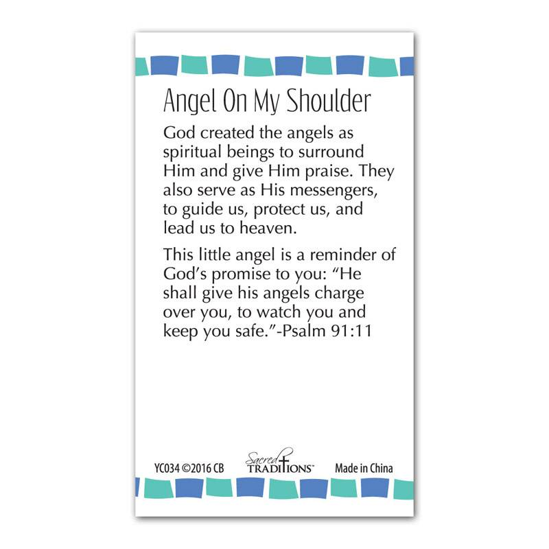 Angel On My Shoulder Lapel Pin