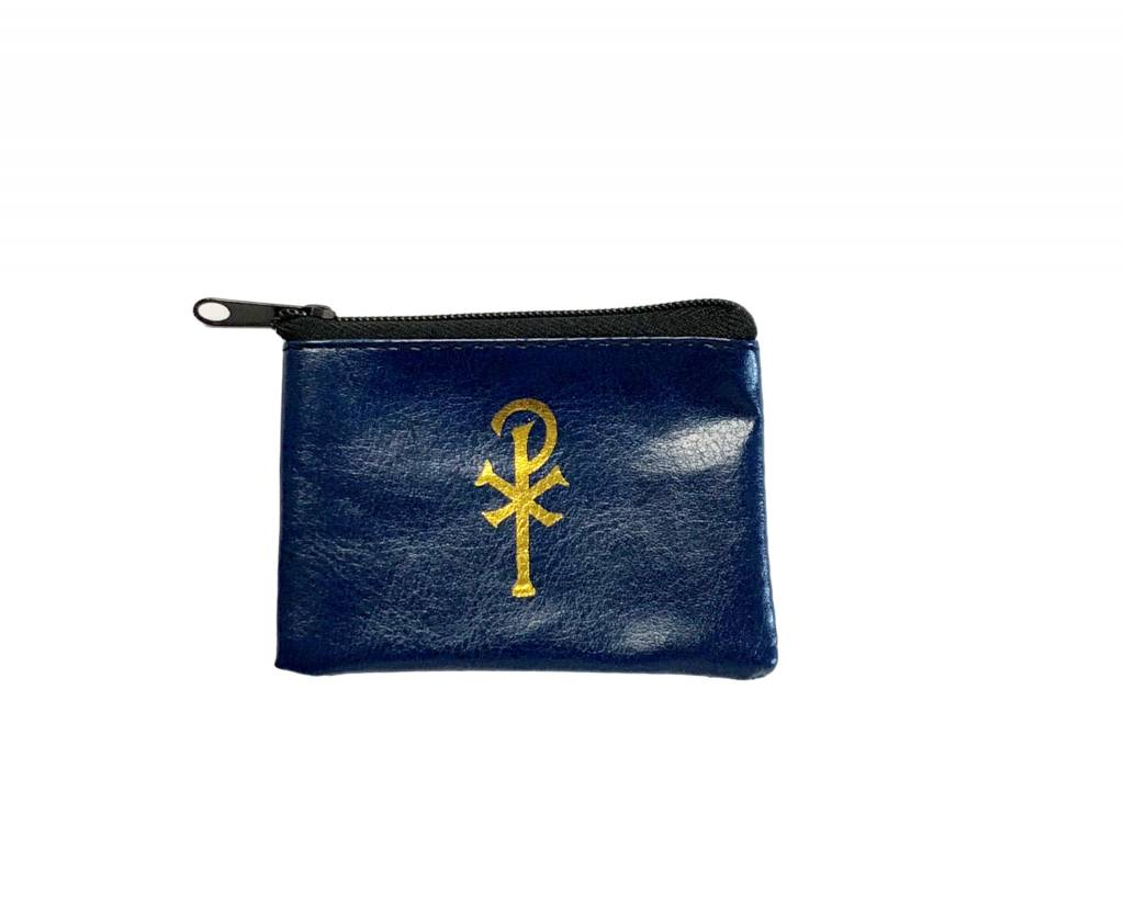 Navy Zippered Rosary Case