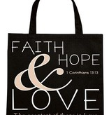 Faith Hope & Love Nylon Tote Bag