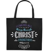 I Can Do All Things Nylon Tote Bag