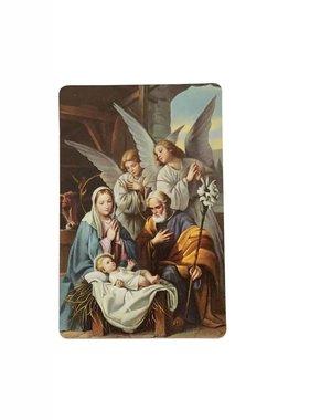 A Christmas Prayer Wallet Prayer Card