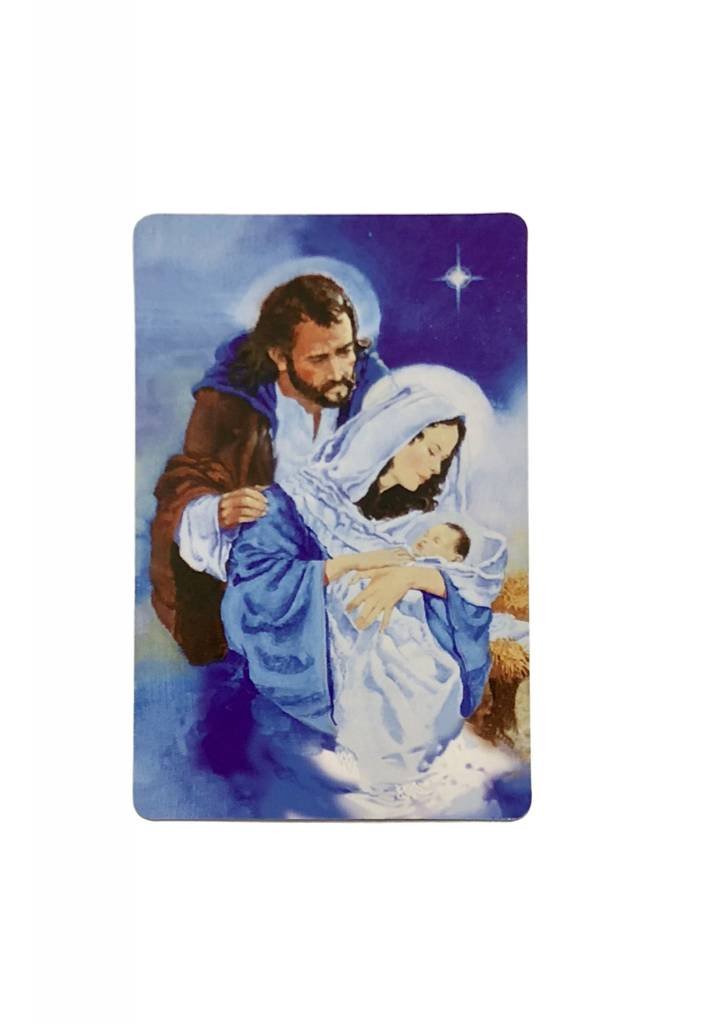 Christmas Trust Wallet Prayer Card