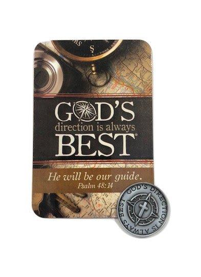 God's Direction is Always Best Pocket Token & Prayer Card