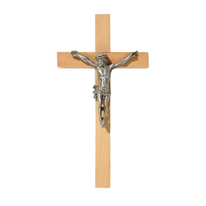 "James Brennan 6"" Wood Crucifix"
