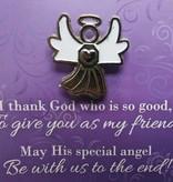 I Thank God Angel Lapel Pin