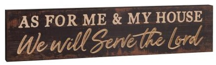 Serve The Lord Wooden Wall Plaque