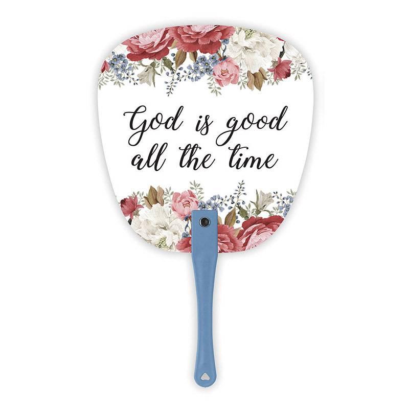 God is Good Hand Fan