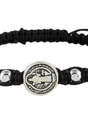 St Benedict Black Trinity Bracelet