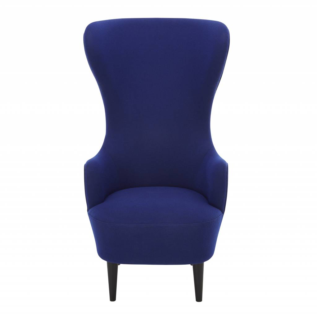 Wingback Chair - Black Legs