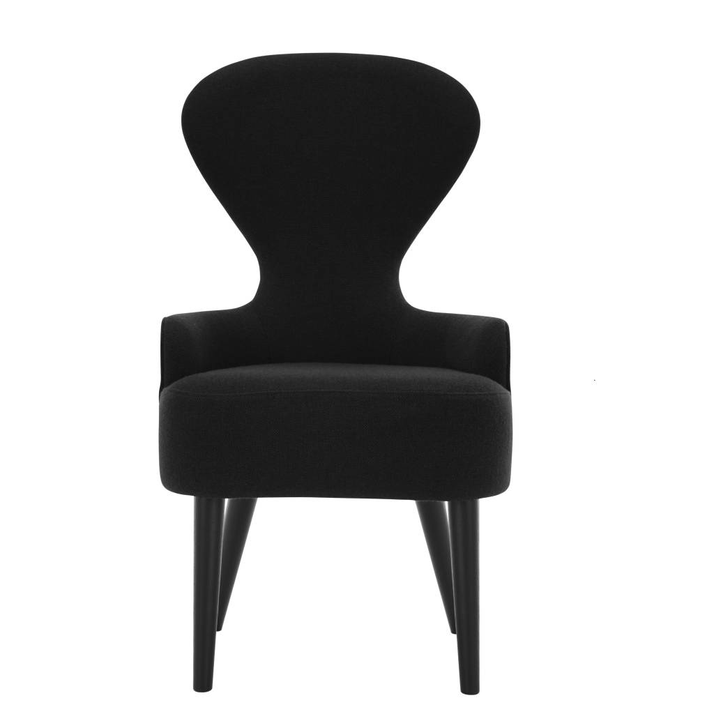 Black fabric dining chairs - Dining Room Fabric Dining Chairs Black Legs
