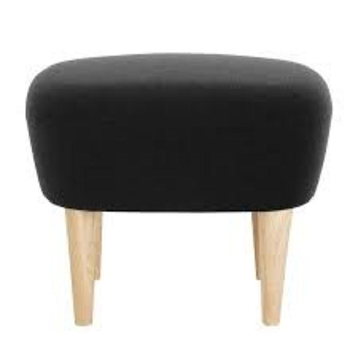 Wingback Ottoman - Natural Legs