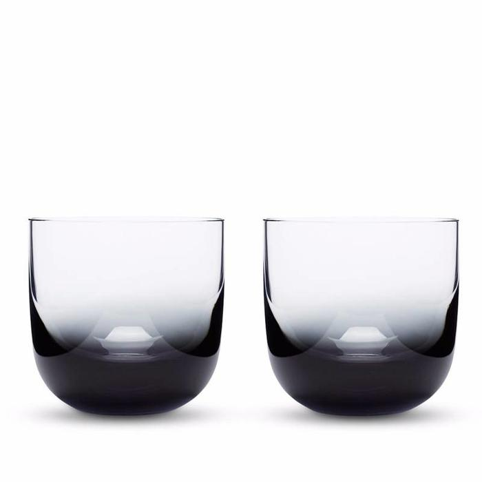 Tank Whiskey Glass Black S/2