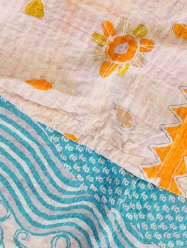 Sea & Sun Kantha Quilt