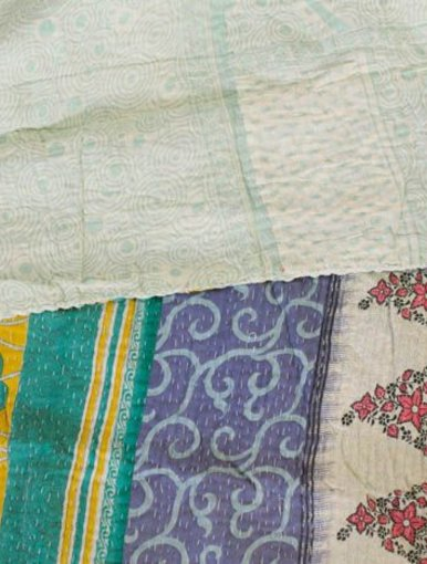 Lemon Water Kantha Quilt