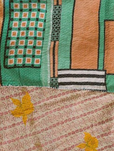 Bloc Party Kantha Quilt