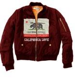 Bomber Jacket California Bear Print