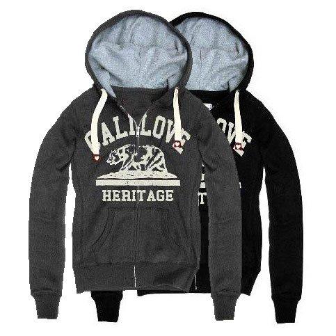 Cali Love bear Flocking Print zipper hoodie
