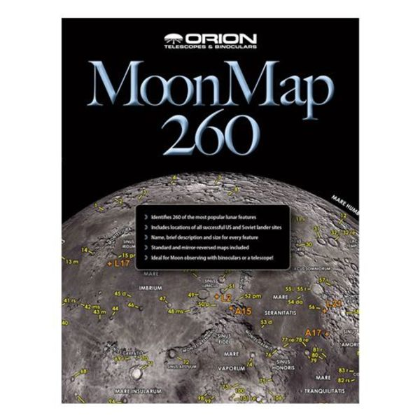 ORION TELESCOPE ORION MOON MAP 260