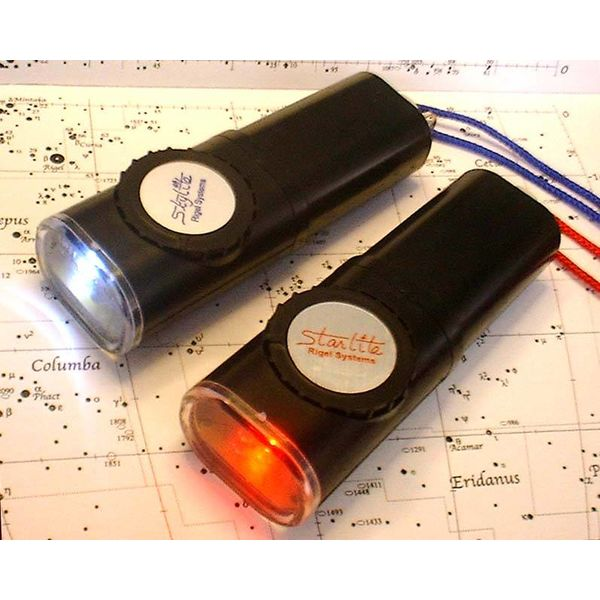 RIGEL SYSTEMS RIGEL STARLITE RED ASTRONOMER'S FLASHLIGHT
