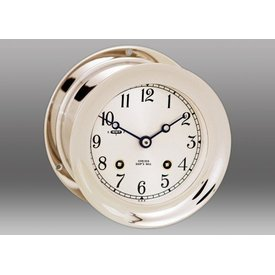 CHELSEA CLOCK CO. CHELSEA 4.5 Ship's Bell with Hinge Bezel Nickel Plated