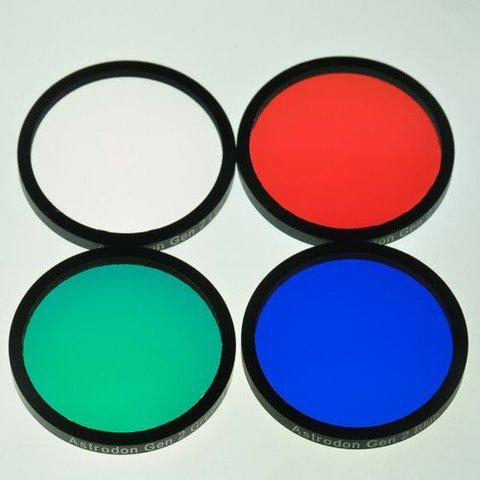 Astrodon E-Series LRGB Filter set mounted 31 mm