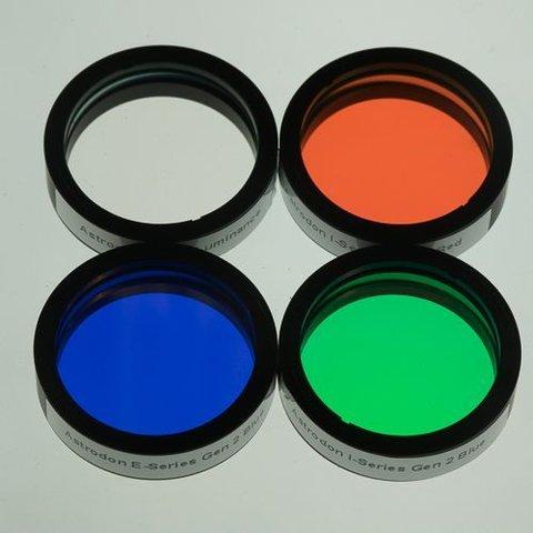 Astrodon I-Series LRGB Filter set unmounted 36 mm